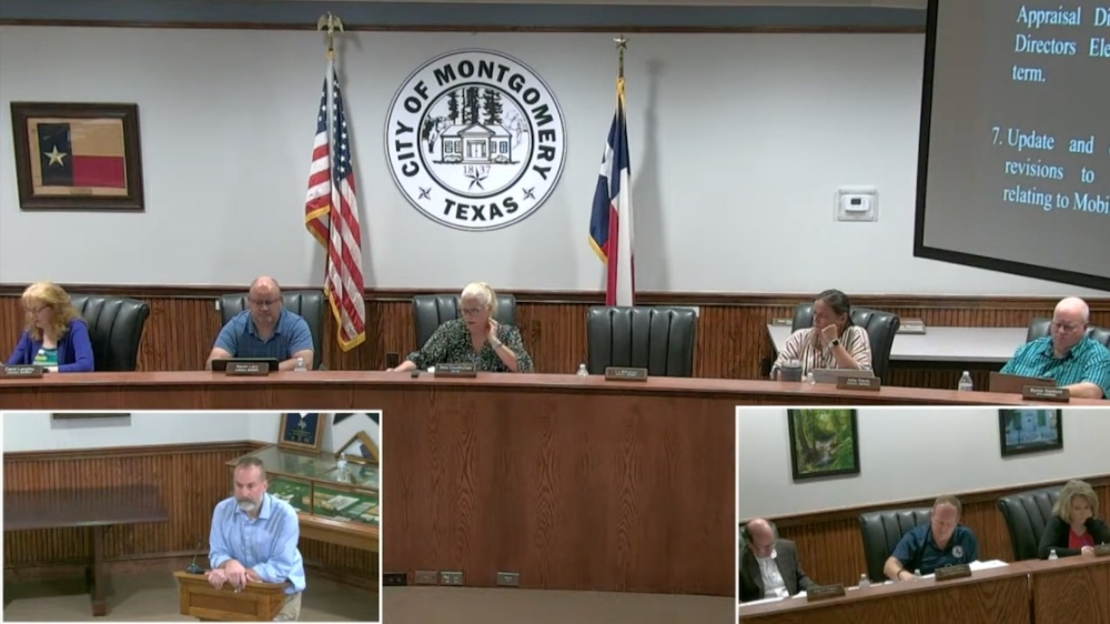 Montgomery City Council continued its discussions on food trucks at its Oct. 12 meeting, (Screenshot via Montgomery City Council livestream)