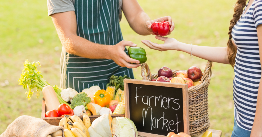 One event to attend on Oct. 16 is a farmers market in Missouri City. (Photo courtesy Canva)