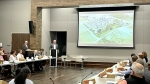 Frisco's City Council, the Planning and Zoning Commission and the Economic Development Corp. attended the work session, where six partnering architectural firms pitched plans for the massive development plan currently owned by the Wilks family. (Matt Payne/Community Impact Newspaper)