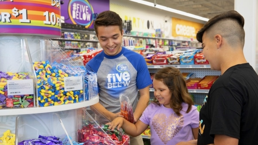 Five Below will celebrate its one-year anniversary at Valley Ranch Town Center in New Caney on Oct. 25. (Courtesy Five Below)