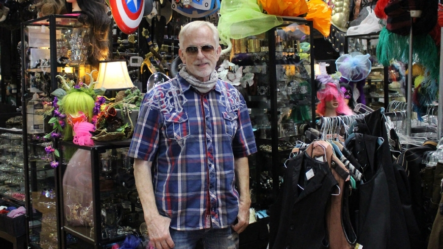Owner Jerry Purvis helps design many of the store's costumes. (William C. Wadsack/Community Impact Newspaper)