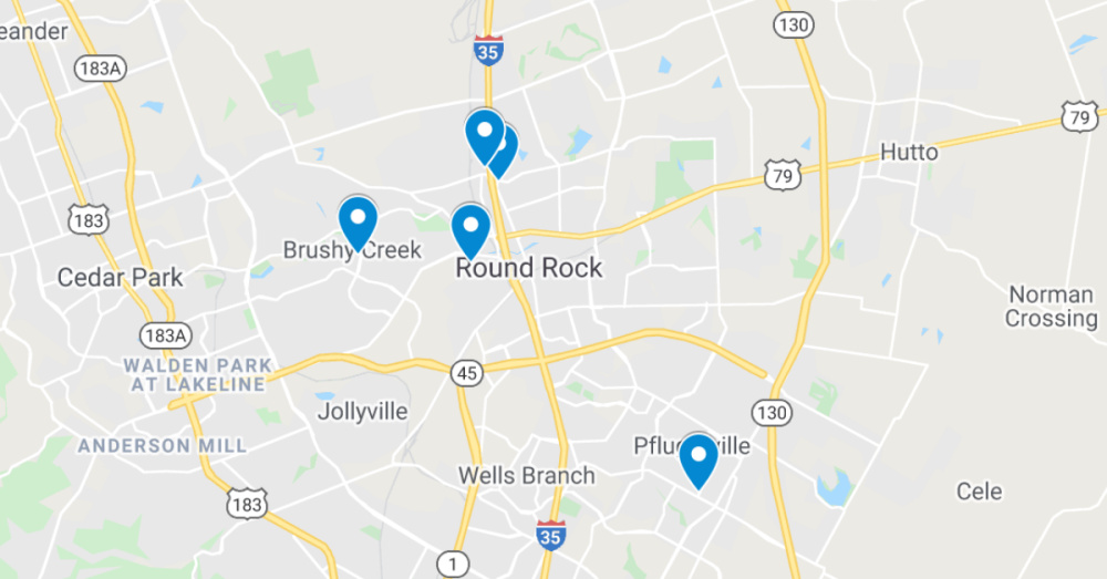 The following commercial projects have been filed through the Texas Department of Licensing and Regulation. (Screenshot courtesy Google Maps)