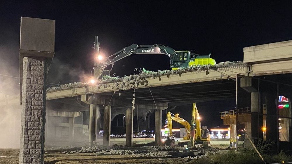 The bridge demolition will close I-35 lane closures from Oct. 14-19. (Courtesy Texas Department of Transportation)