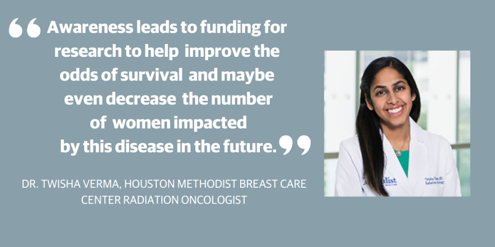 In honor of National Breast Cancer Awareness Month, Community Impact Newspaper interviewed Dr. Twisha Verma on the importance of routine checkups. (Photo Courtesy Houston Methodist Breast Care Center at Clear Lake)