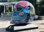 A Dia de los Muertos art display can be seen at Market Street this month. (Courtesy Market Street)