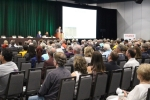 More than 500 people attended the Sept. 23 forum in The Woodlands on incorporation. (Andrew Christman/Community Impact Newspaper)