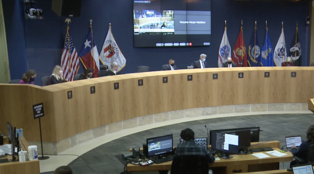 Austin City Council approved dozens of spending items and rezoning requests during an Oct. 14 meeting. (Screenshot via city of Austin)