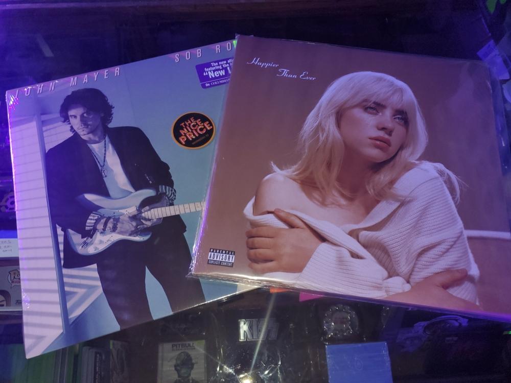 Billie Eilish and John Mayer are popular artists for lovers of new music. (Jarrett Whitener/Community Impact Newspaper)