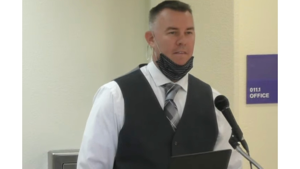 Doug Wozniak, director of school safety and health services for SMCISD, presented COVID-19 updates Oct. 18. (Screen shot courtesy San Marcos CISD)