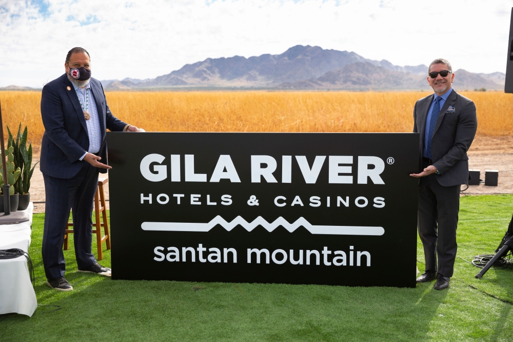 Gila River Hotels & Casinos broke ground on its newest project—Santan Mountain—Monday, Oct. 18, on Gila River Indian Community land just south of Chandler on Gilbert Road and Hunt Highway.(Courtesy Gila River Hotels & Casinos)
