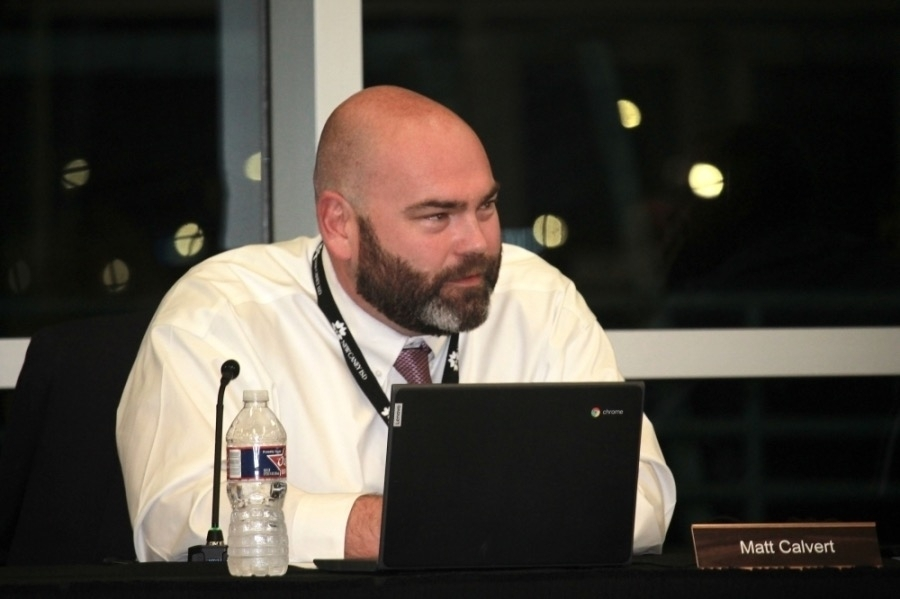 New Caney ISD Superintendent Matt Calvert at an Oct. 18 board meeting said the district is considering changing the class times for elementary and secondary school classes for the 2022-23 school year. (Kelly Schafler/Community Impact Newspaper)