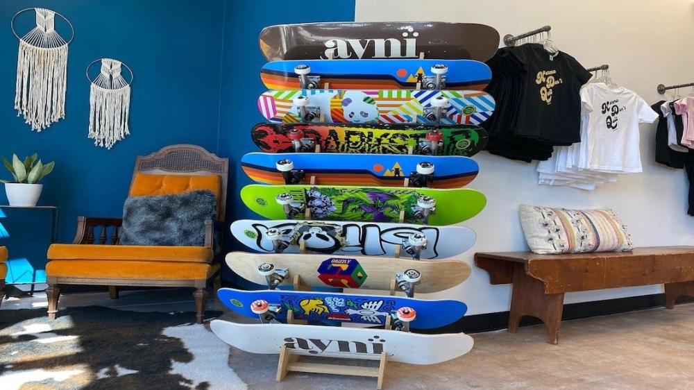 Skate shop inside