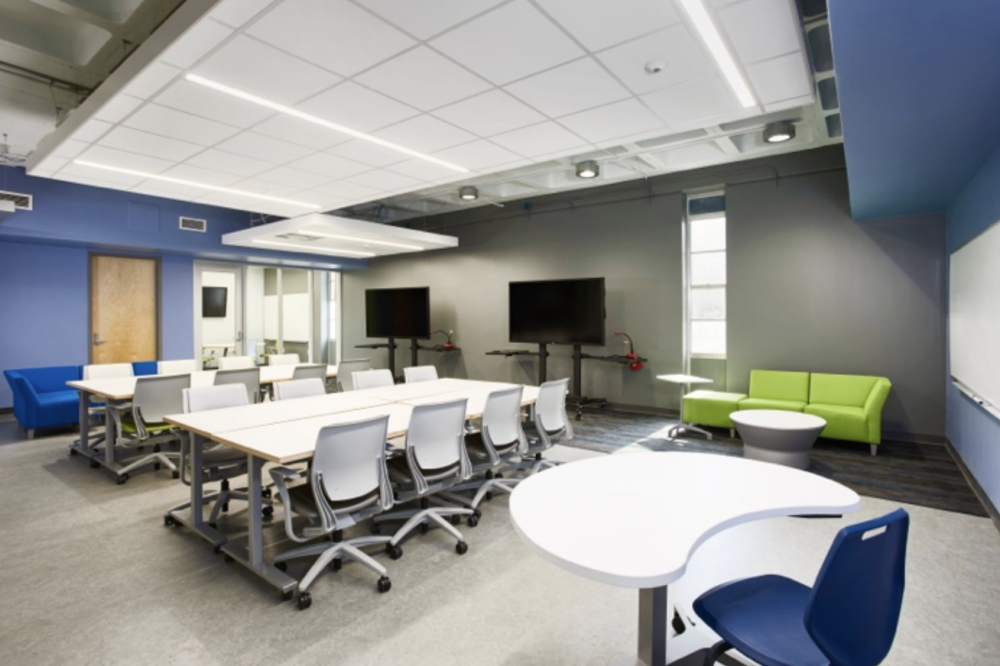 The new STEM learning center pairs with the school's program that allows students to take Austin Community College classes for free. (Courtesy Austin ISD)