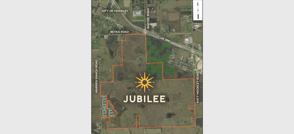 Jubilee will be located south of Hwy. 290 and west of the Grand Parkway. (Courtesy Johnson Development)