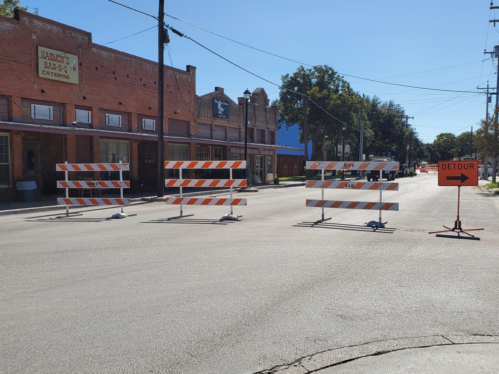 A detour will be in place at South Main Street until Oct. 25. (Jarrett Whitener/Community Impact Newspaper)