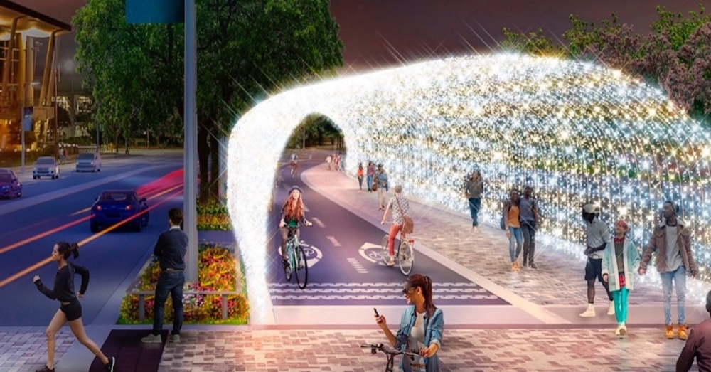 Winter Wanderland is coming soon to downtown Houston's Bagby Street corridor. (Courtesy Houston Downtown Management District)