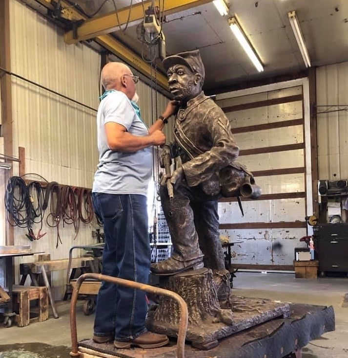 Local officials will unveil a statue honoring members of the U.S. Colored Troops on Oct. 23. (Courtesy city of Franklin, Battle of Franklin Trust)