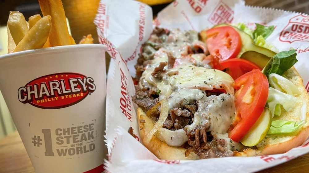 The restaurant specializes in made-fresh Philly cheesesteaks, loaded gourmet fries and all-natural lemonades. (Courtesy Charleys Philly Steaks)