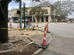 Georgetown began their sidewalk improvement plan in May and hopes to make the Square more accessible and safe. (Brittany Andes/Community Impact Newspaper)