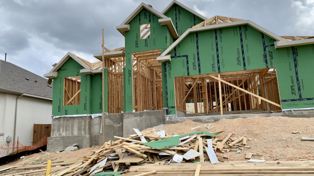 Home construction in the Sweetwater community continues. New homes entering the market have yet to create a balanced market, according to ABoR. (Greg Perliski/Community Impact Newspaper)