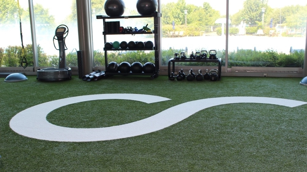 This green area in the fitness center was a recent addition to Craig Ranch Fitness & Spa. (Miranda Jaimes/Community Impact Newspaper)