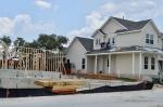 Homes are under construction in the Cross Creek development near 183A Toll in Cedar Park. (Taylor Girtman/Community Impact Newspaper)