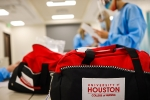 Students unpack real-world experiences as part of the UH College of Nursing program. The college is located at the UH at Sugar Land instructional site.