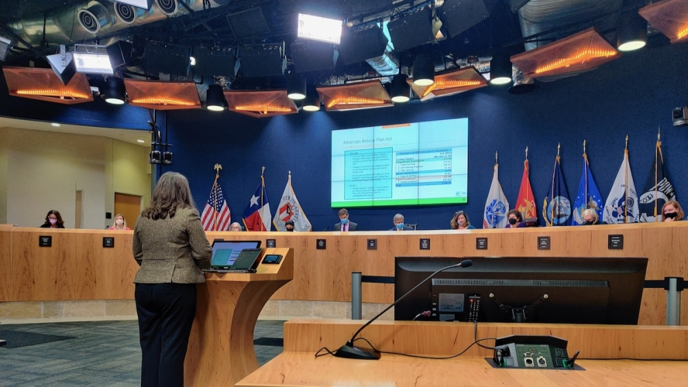 Homeless Strategy Officer Dianna Grey briefed City Council on Austin's spending of more than $100 million in American Rescue Plan Act funding on homelessness Oct. 21. (Ben Thompson/Community Impact Newspaper)