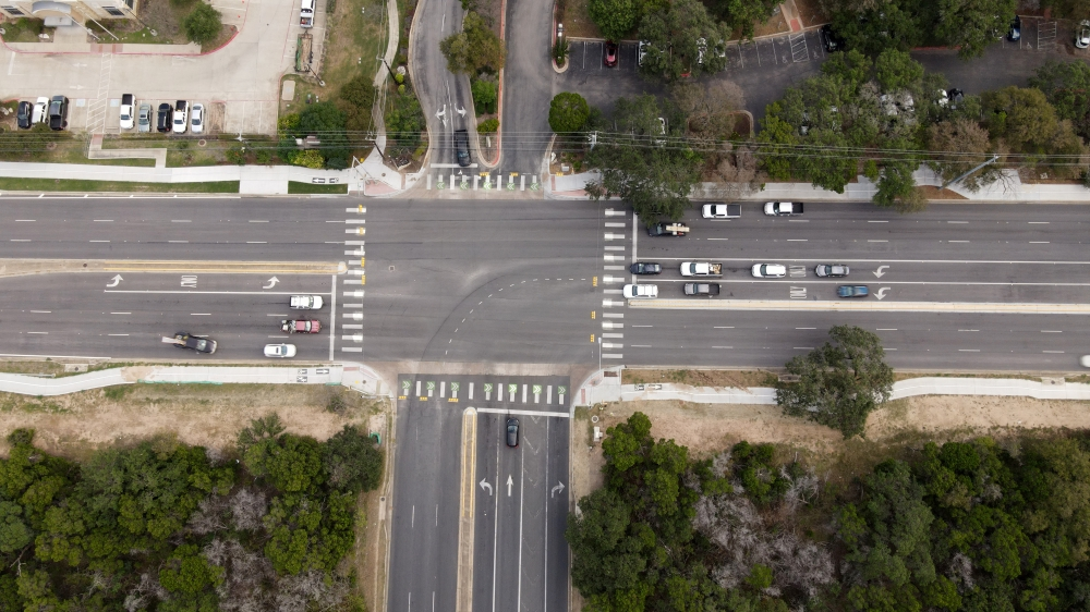 The busy intersection saw 262,500 vehicles pass through it on a weekly basis prior to the pandemic. (Courtesy Austin Transportation Department)