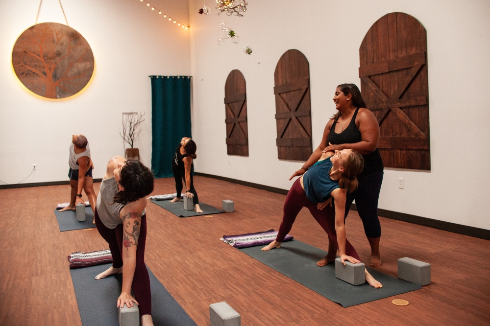 Oak   Lotus Yoga Studio opened in mid-August. (Courtesy Oak   Lotus Yoga Studio)