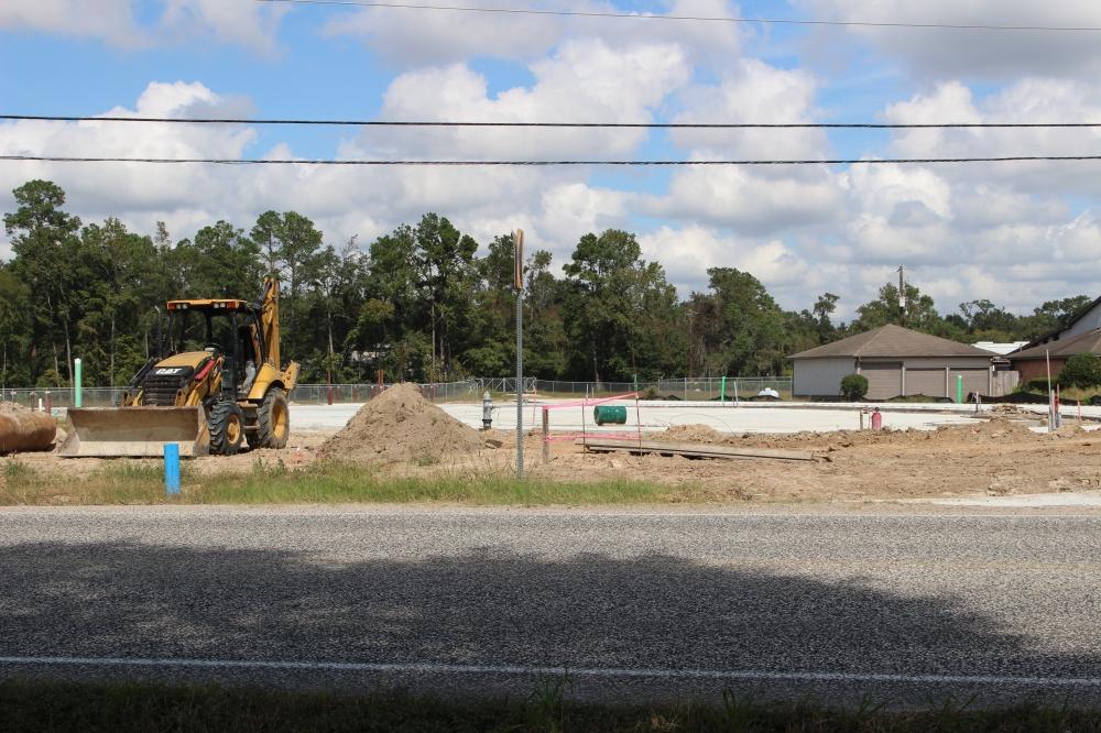 Copendero Gun Range is under construction. (Andrew Christman/Community Impact Newspaper)