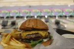 """The Dude"" is the signature burger at Lebowski's Grill. (Olivia Aldridge/Community Impact Newspaper)"