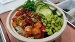 The company offered a variety of Hawaiian-style poke bowls. (Courtesy Go Fish Poke)