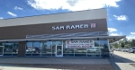 Sam Ramen is located in the corner storefront at The Market at Harper's Preserve. (Ally Bolender/Community Impact Newspaper)