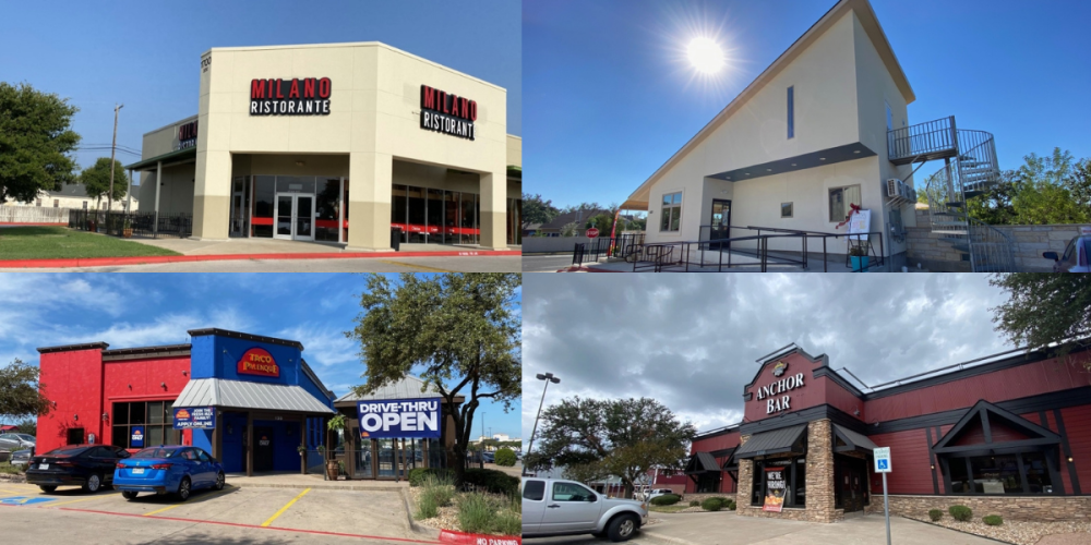 Milano Ristorante, Brushy Creek Cafe, Taco Palenque and Anchor Bar are now open in Round Rock. (Brooke Sjoberg/Community Impact Newspaper)