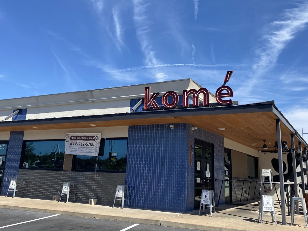 Photo of the Komé storefront