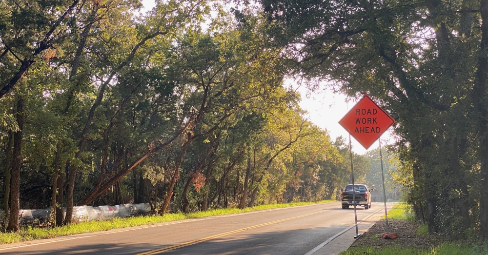 A Williamson County project to make improvements to Hairy Man Road and Brushy Creek Road on the 2.2 miles of street between Brushy Bend and Sam Bass Road is now expected to be completed in December, according to the county. (Brooke Sjoberg/Community Impact Newspaper)