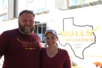 Steve and Michelle Mims started their food truck Bulls and Bellows BBQ in May. (Chandler France/Community Impact Newspaper)