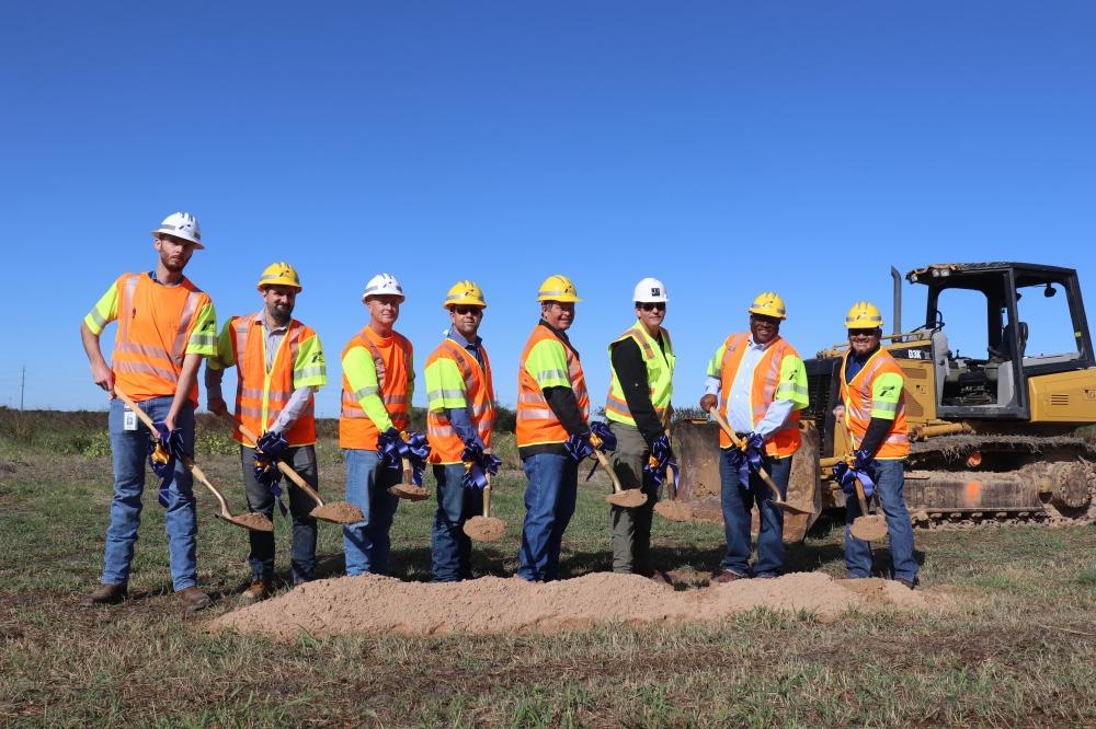 TxDOT broke ground on the $17.7 million project to extend Robert S. Light Boulevard. (Zara Flores/Community Impact Newspaper)