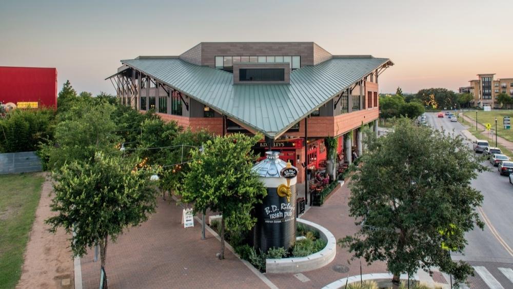 Aerial photo of Aldrich Street